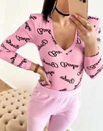 Дамска блуза с атрактивен десен - код 11633 - 7