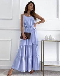 Дълга дамска рокля в светлосиньо - код 2578