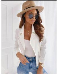 Дамско тънко яке в бяло - код 562