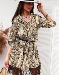 Дамска рокля с ефектен десен - код 3635 - 4