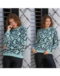 Дамска блуза с анимационен десен - код 1471 - 4