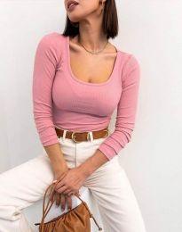 Изчистена блуза в розово - код 11662