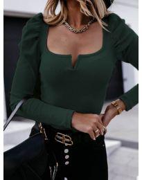 Елегантна блуза в тъмно зелено - код 2620