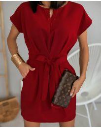 Елегантна рокля в бордо - код 772