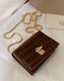 Дамска чанта в тъмнокафяво - код B425