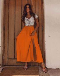 Дамска пола в оранжево с цепка - код 8231