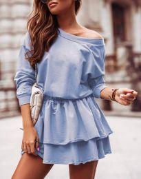 Дамска рокля  в светлосиньо - код 0525