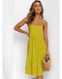 Дамска рокля в цвят горчица - код 630