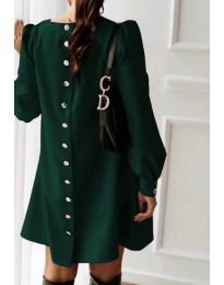 Изчистена свободна рокля в зелено - код 915