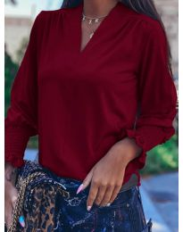 Дамска блуза в бордо - код 4549