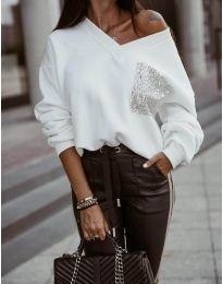 Дамска блуза в бяло - код 904