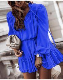 Свободна дамска рокля в синьо - код 3231