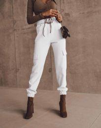 Дамски панталон в бяло - код 2996