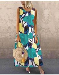 Дълга рокля с атрактивен десен - код 0083-2