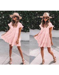 Свободна рокля в розово - код 1155