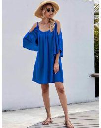 Свободна изчистена рокля в синьо - код 3022