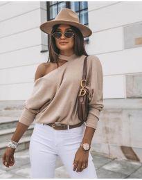 Дамска блуза в бежово - код 5618