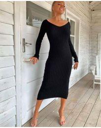 Екстравагантна рокля в черно - код 2333