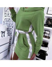 Спортна рокля в зелено - код 4483