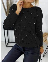 Дамска пуловер в черно - код 392