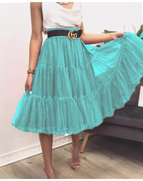 Стилна пола в цвят мента - код 2060