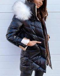 Стилно дамско яке в черно - код 0985