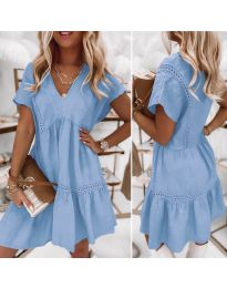 Дамска рокля  в светлосиньо - код 8978