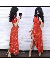 Елегантна рокля в червено - код 3013