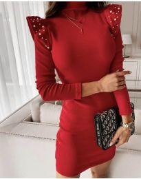 Елегантна рокля по тялото в червено - код 9494