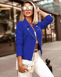 Елегантно дамско яке в синьо - код 7759