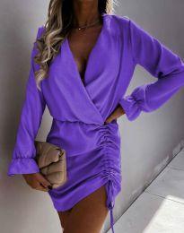 Елегантна рокля в лилаво - код 4271