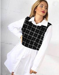 Дамска риза в бяло - код 9990 - 5