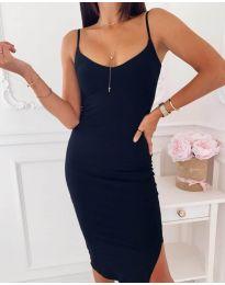 Изчистена рокля в черно - код 0088