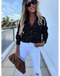 Дамска риза в черен цвят - код  8050