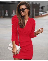 Елегантна рокля в червено - код 870