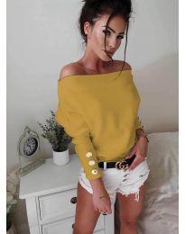 Дамска блуза в цвят горчица- код 3732