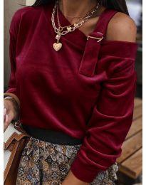 Дамска блуза в бордо - код 280
