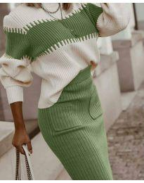 Дамски комплект в зелено - код 4736