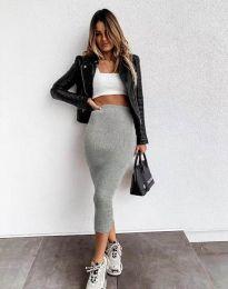 Дамска пола в сиво - код 2260