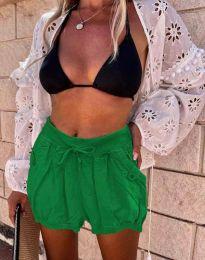 Къси панталонки в тъмнозелено - код 0320