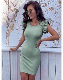 Изчистена рокля в цвят мента - код 199