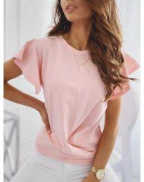 Дамска тениска тип прегърни ме в розово - код 515