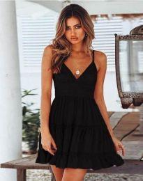 Кокетна къса рокля в черно - код 7115
