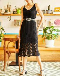 Дамска рокля в черно - код 0351