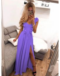 Елегантна рокля в лилаво - код 673