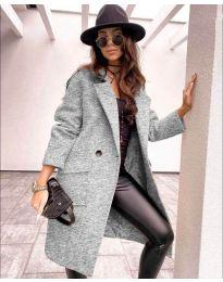 Дамско палто в сиво - код 7278