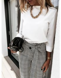 Дамска блуза в бяло - код 9432