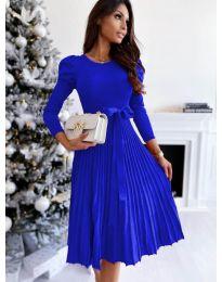 Кокетна рокля в синьо - код 3939