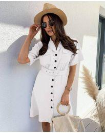 Елегантна рокля в бяло - код 742