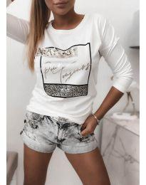 Дамска блуза в бяло - код 4223
